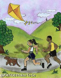 Illustration: Jogging in the park